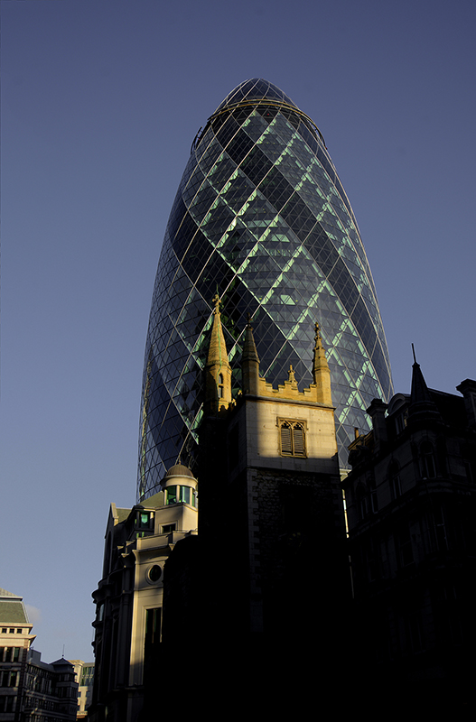 "30 St Mary Axe (widely known informally as ""the Gherkin"""