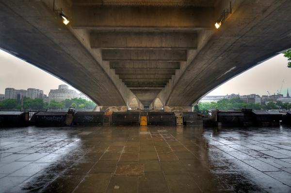 Under a bridge