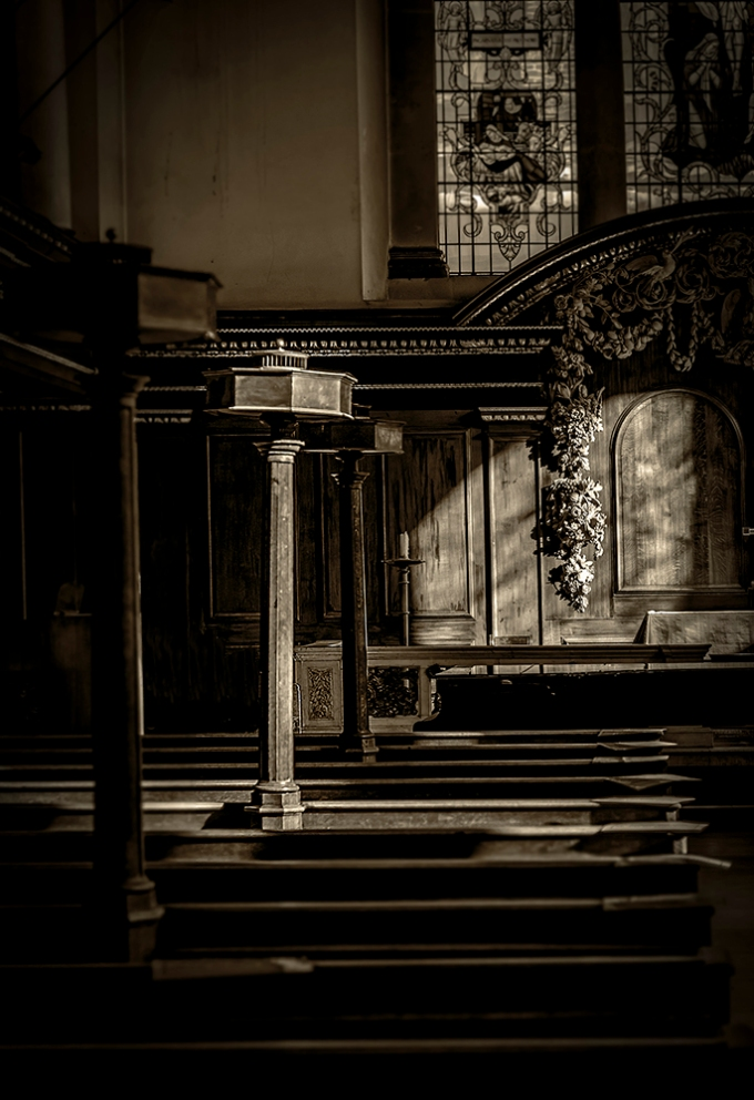 Light… An empty church Central London