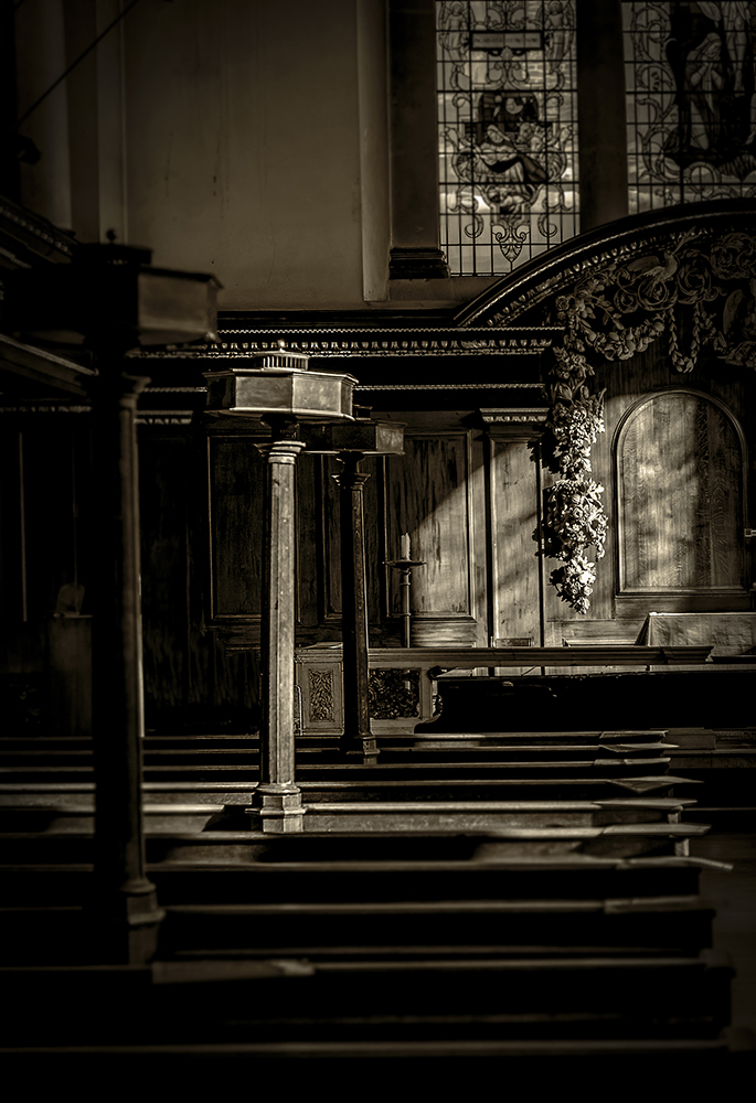 Light… An empty church Central London